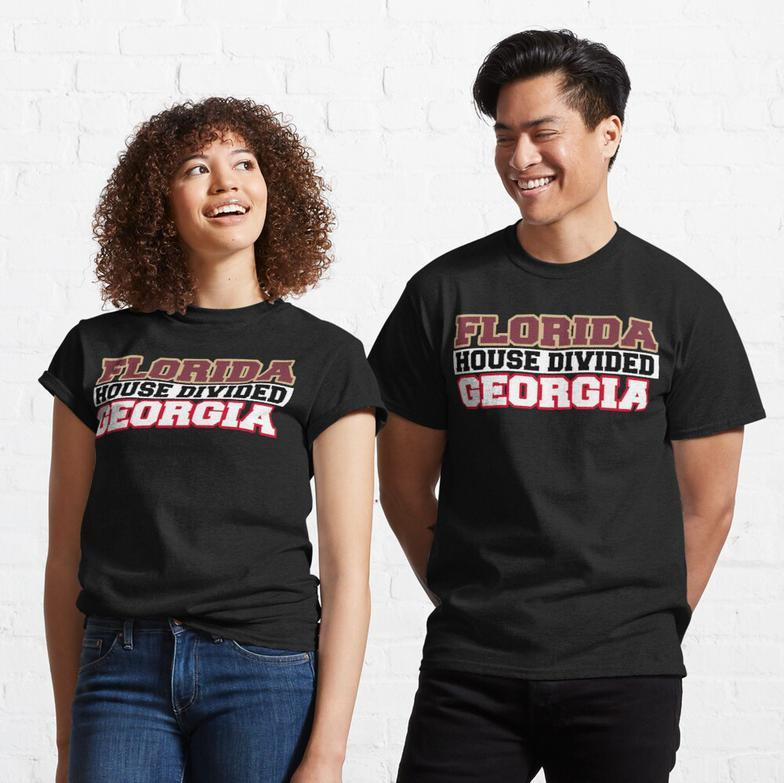 Florida House Divided Georgia Classic T-Shirt
