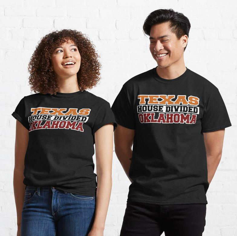 Texas House Divided Oklahoma Classic T-Shirt