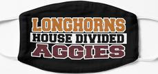 Longhorns House Divided Aggies Mask