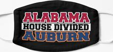 Alabama House Divided Auburn Mask
