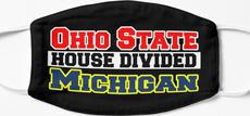 Ohio State House Divided Michigan Mask
