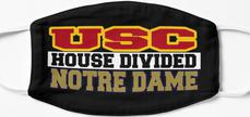 USC House Divided Notre Dame Mask