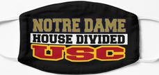 Notre Dame House Divided USC Mask